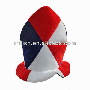 Supporter Blue white red France Funny football fans top hat MH-1685
