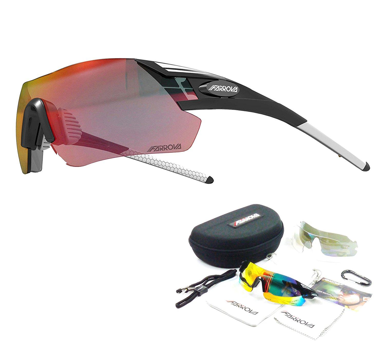 cf22f854bed Buy FARROVA - KD058 Sports Sunglasses with 3 Set Interchangeable ...