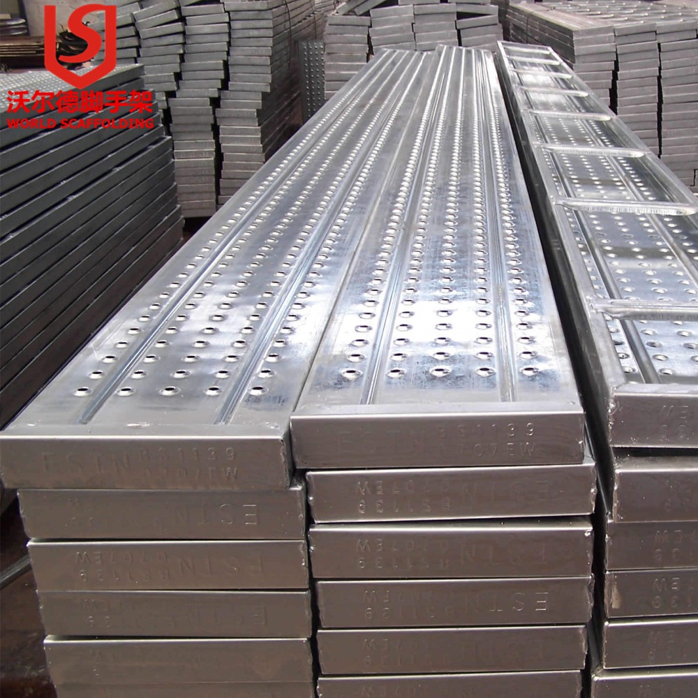 Security Steel Scaffold Planks : Building suspended access scaffolding steel plank metal