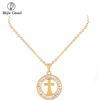 Factory Price Steel Custom Chain Crystal Fashion Jewellery 18K Jewelry Gold Necklace Women