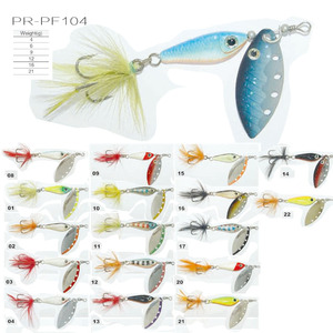 Colorful metal carp fishing bait PR-PF104 spinner fishing lure