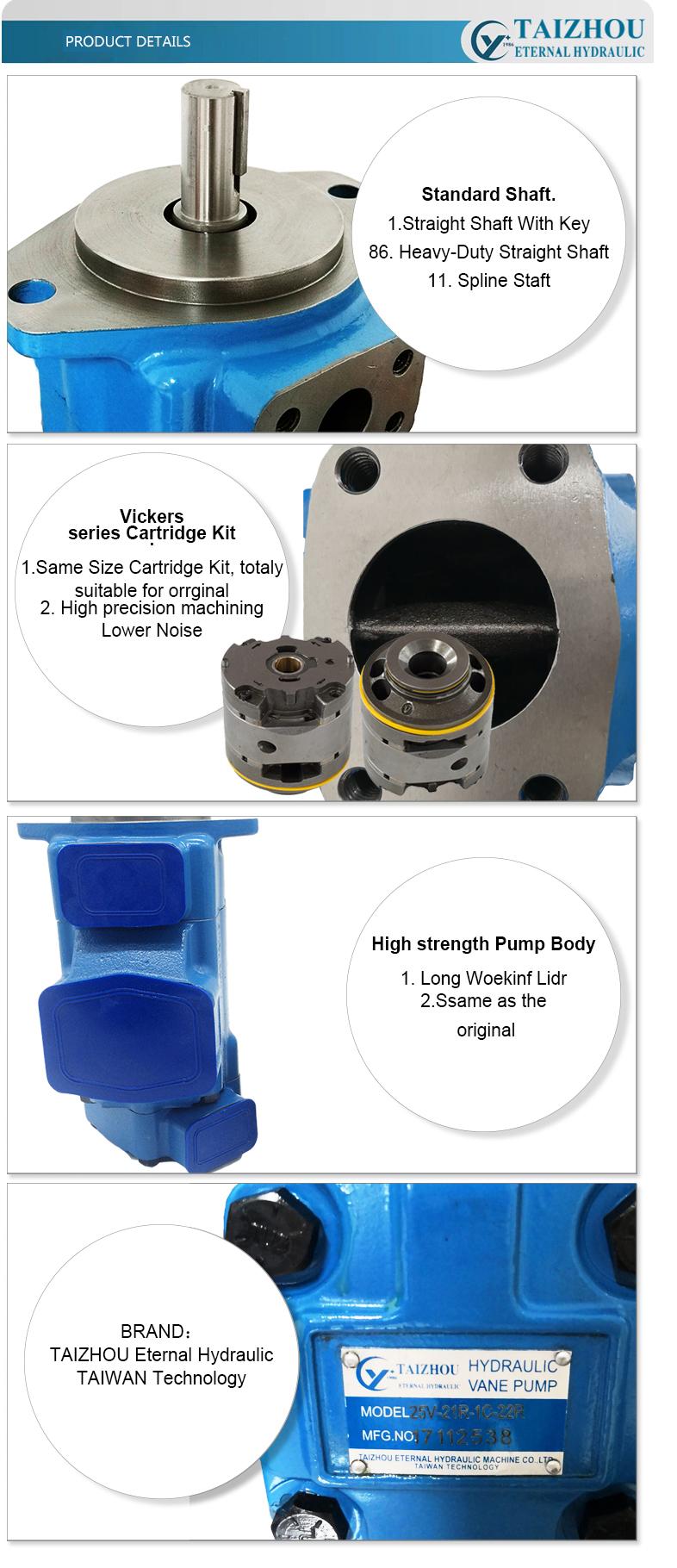 Hydraulic Double Vane Pump Oil Pump 2520VQ 3520VQ 3525VQ 4525VQ 4535VQ Vickers Pumps