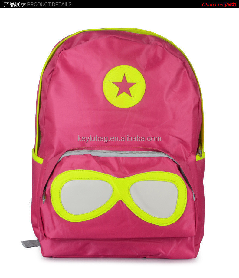 star and big glass leisure bags stylish school backpack for teens