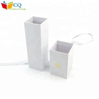 Hot sale white git packaging cardboard wine box with ribbon