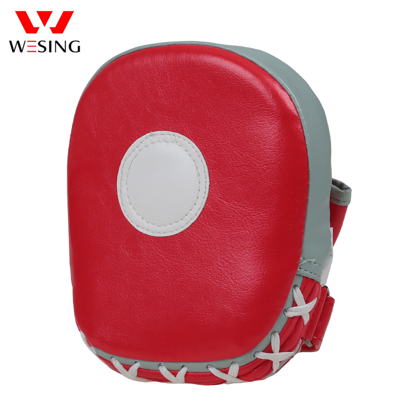 Wesing curved boxing mitts punch pads kick shield for MMA Muay Thai Karate Taekwondo training, Red/blue/black