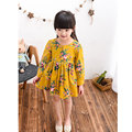 Chinese Style Flower Dress For Girls 2 7Years Long Sleeve Kids Spring Clothing Ball Gown Children