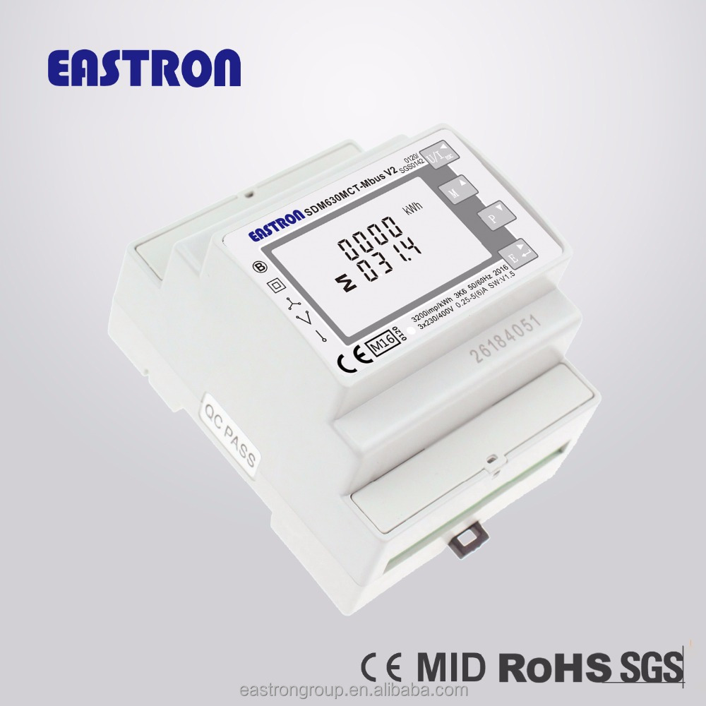 MID certificated 3 phase CT connected RS485 modbus RTU Energy Meter