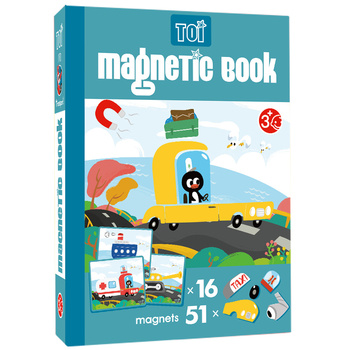 TOI Magnetic Puzzle Book Transport Educational Toy Paper Puzzles For Children