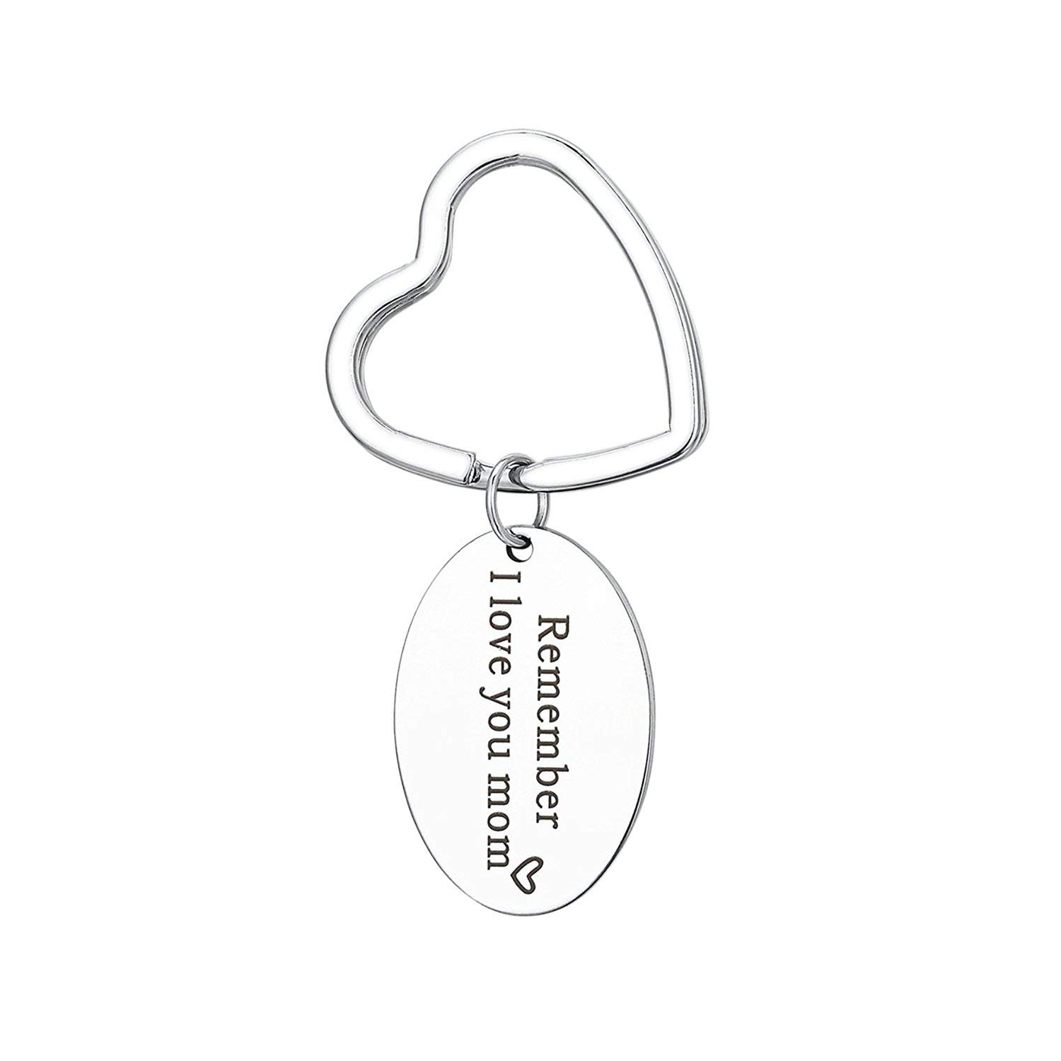 Mom gifts Remeber I Love You Mom Keychain Mom Daughter Jewelry Gify Mother's Day Gifts