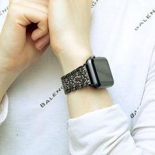40 мм/44 мм/38 мм/42 мм ремешок из нержавеющей стали для Apple Watch серии 4 серии 5 4 3 2 женские роскошные, со стразами, с украшениями под бриллианты брас...(Китай)