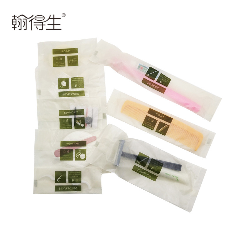 5 star biodegradable hotel products amenities for hotel travel kit