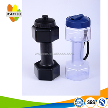 plastic dumb bell water bottle