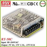Meanwell RT-50C 50w Triple output switching power supply 5v 15v -15v