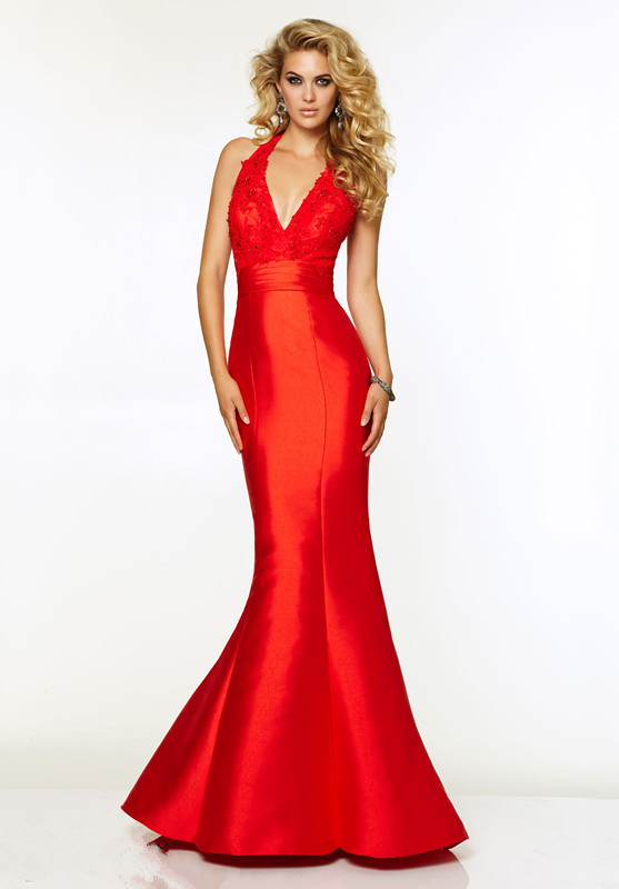 Luxury Halter Mermaid Floor -length Long Sexy Red Prom Dress Sexy Formal Evening Gown Long Party Prom Dress For Women 2015