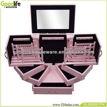Goodlife wooden handmade craft makeup box jewelry box wholesale