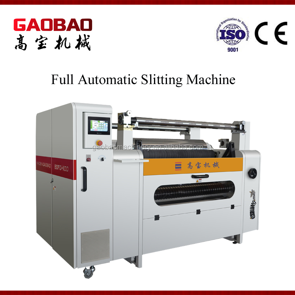 Top Quality High Quality Plastic Automatic Paper Slitting Machine Factory High Speed Effecient