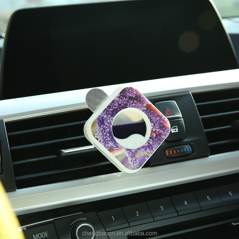 Round shape customized car vent membrane air freshener Membrane perfume support with free samples