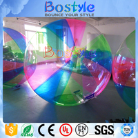 Factory manufacture rainbow colorful inflatable bubble water ball walking ball