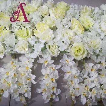 White Artificial Orchid Wedding Reception Silk Flower Buy