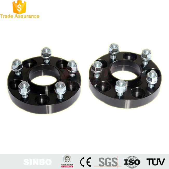 CNC turning machine aluminum stainless steel 5/6 lug wheel spacer adapter wheel spacer/ Black Wheel Hub Spacer