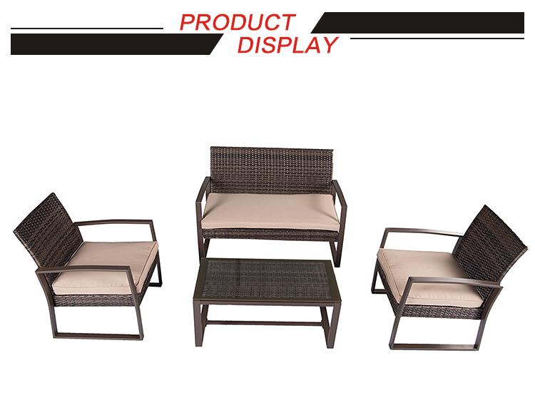 Outdoor Sun Fun Lounge Chair And Side Table Rattan Wicker Woven Ethnic  Furniture