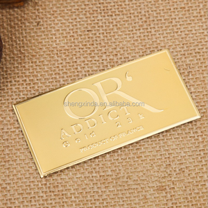 Customized aluminum sign logo bag label metal logo plate