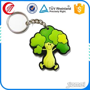 custom made cartoon character 3d rubber keychain