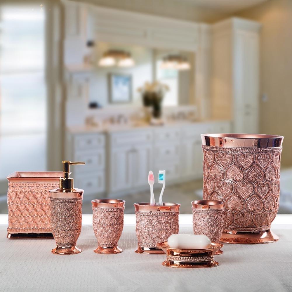 LINA-Resin set seven-piece bathroom set-bathroom home wedding accessories , 3
