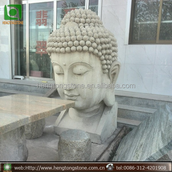 Relatively Large Outdoor Marble Buddha Head Statue - Buy Buddha Head Statue  VQ01