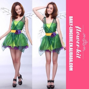 Halloween costume fairy costume Forest green elf Dress + wings +belt Flower Fairy cosplay Costumes  sc 1 st  Alibaba & Halloween Costume Fairy Costume Forest Green Elf Dress + Wings +belt ...