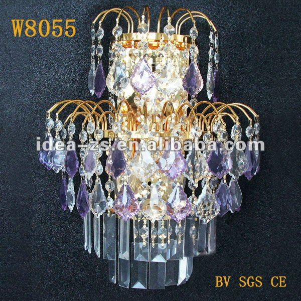 Fancy Lamparas De Pared Classic Crystal Chandelier Light Wall Sconce