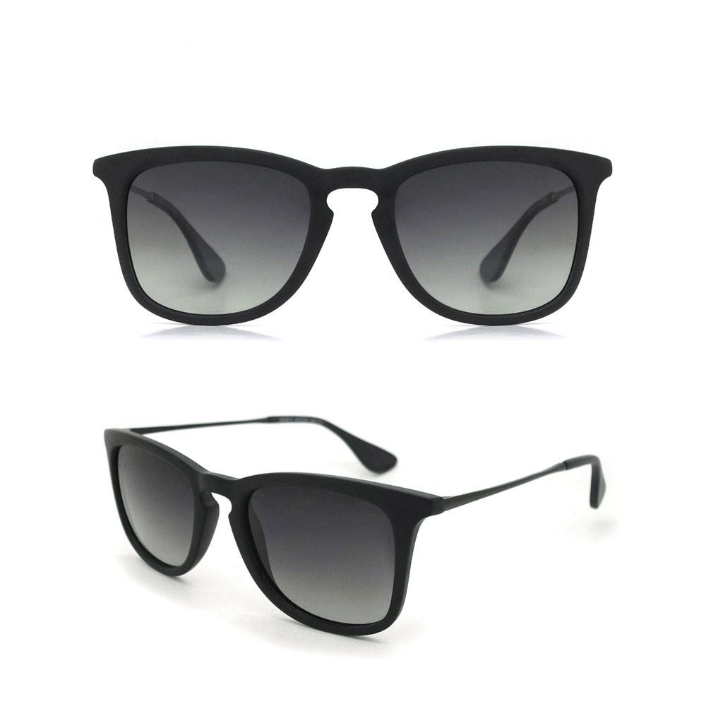2018 Low MOQ Fashion Sun Glasses Custom Brand OEM Italy Design CE UV400 Black Polarized Retro Sunglasses for Men