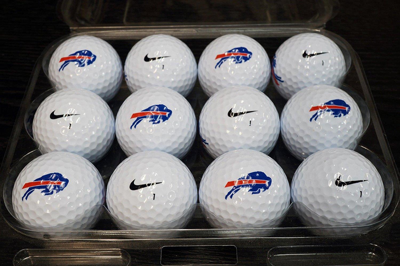 (36) 3 Dozen Buffalo Bills NFL Logo Nike AAAAA / MINT Used Golf Balls