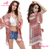 No MOQ 2017 New design ladies red beach wear cover up