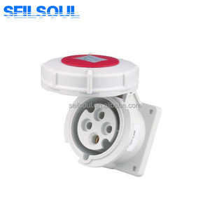 SSL-3142 series female bule color wall socket 3 pins industrial power plug