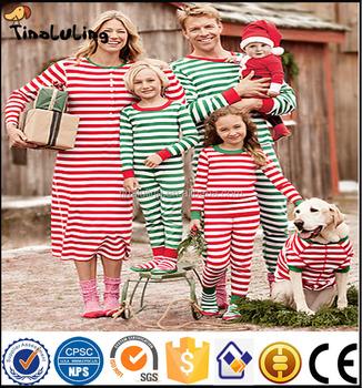 Wholesale Christmas Pajamas Kids Monogram Blanks Stripe Pajamas ...