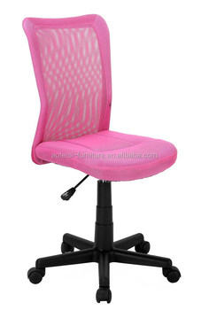 Promotion Pink Color Computer Chair For Students And Kids