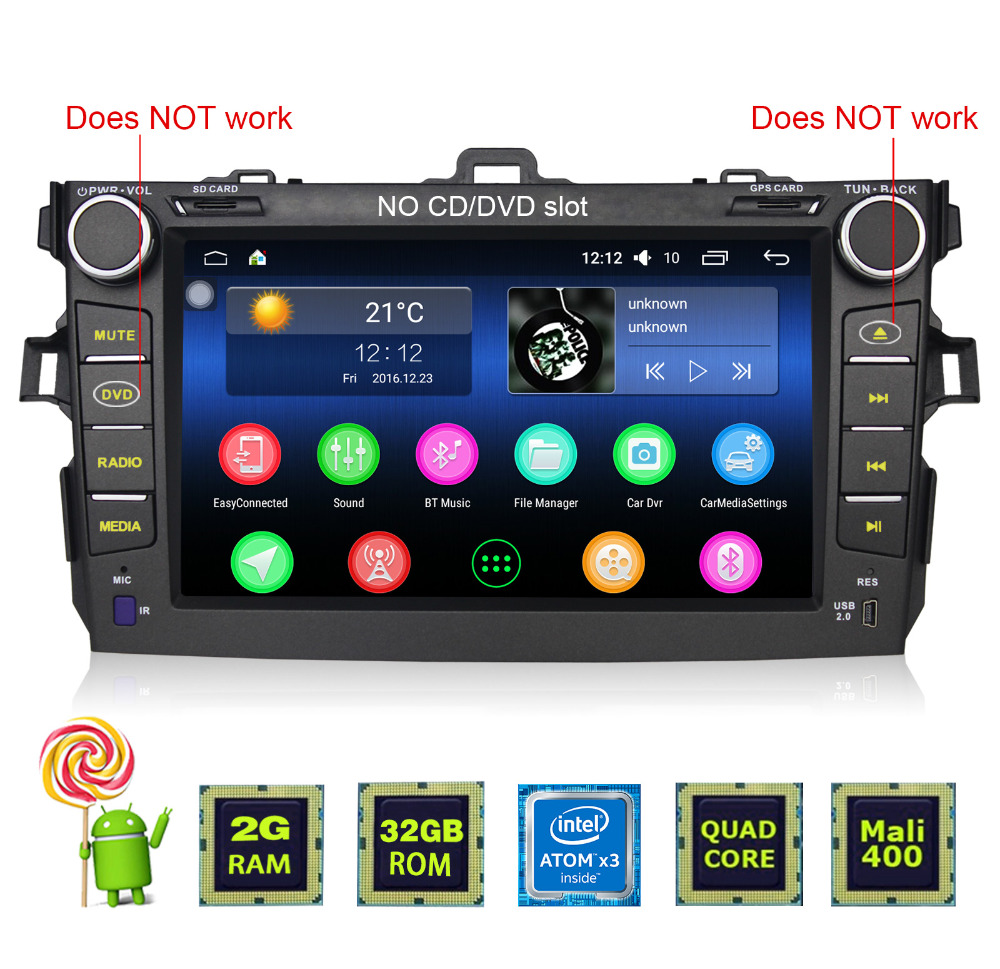 Joying 2 din video format for bluetooth car stereo <strong>android</strong> for <strong>Toyota</strong> Corolla