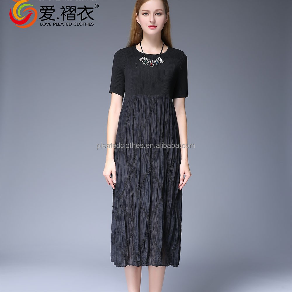 one piece dresses for fat girls oem dress manufacturer China lady party dress factory