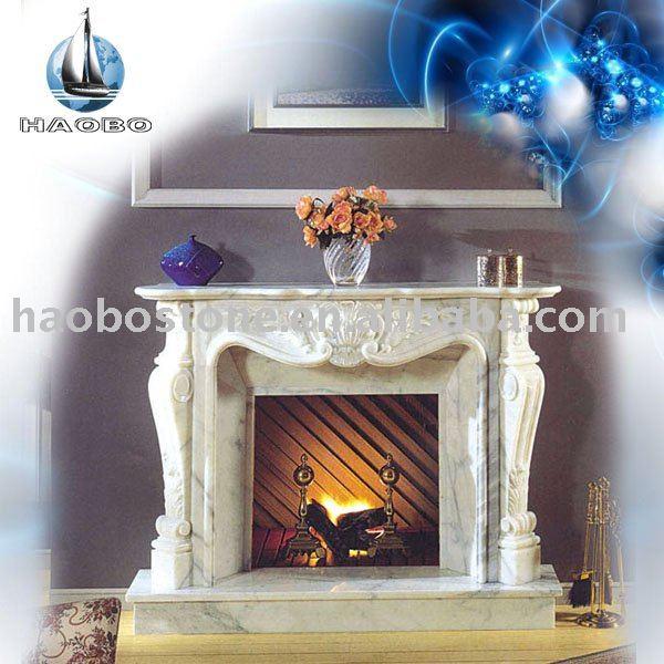Haobo marmol chimenea repisa de la chimenea chimeneas - Repisas de marmol ...
