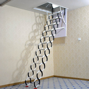 Awesome 2018 Automatic Electric Telescopic Loft Ladders,hydraulic Folding Attic  Stairs