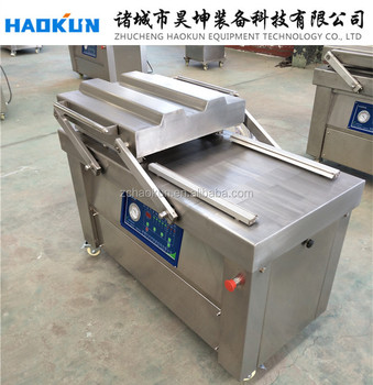 powder pouch automatic used food double chamber vacuum chamber vacuum packer