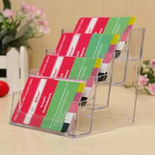 clear acrylic stand display table desktop business card holder stand box for office table