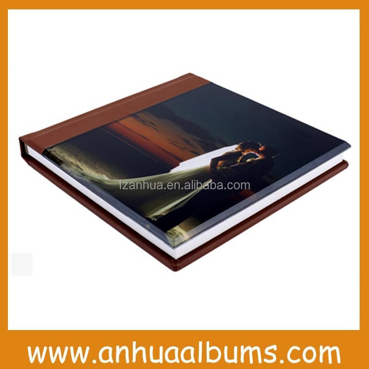 Acrylic cover deluxe wedding photo albums