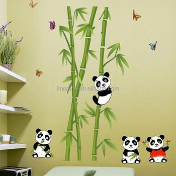 Hot Sell Wall Stickers Home Decor Panda Bamboo Background Fashion ...