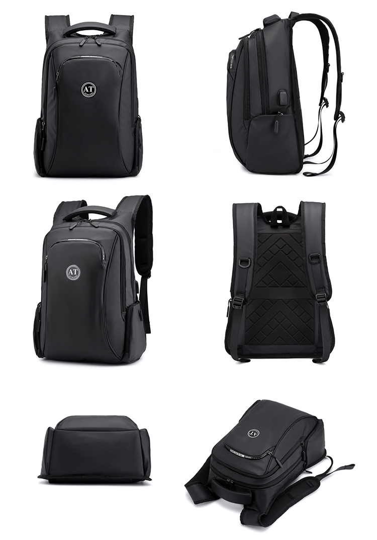Fashion Waterproof Lightweight Travel Business 15.6 inch Smart USB charging Computer bag Laptop Backpack men