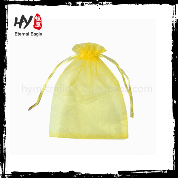 High quality promotional gift card organza pouch