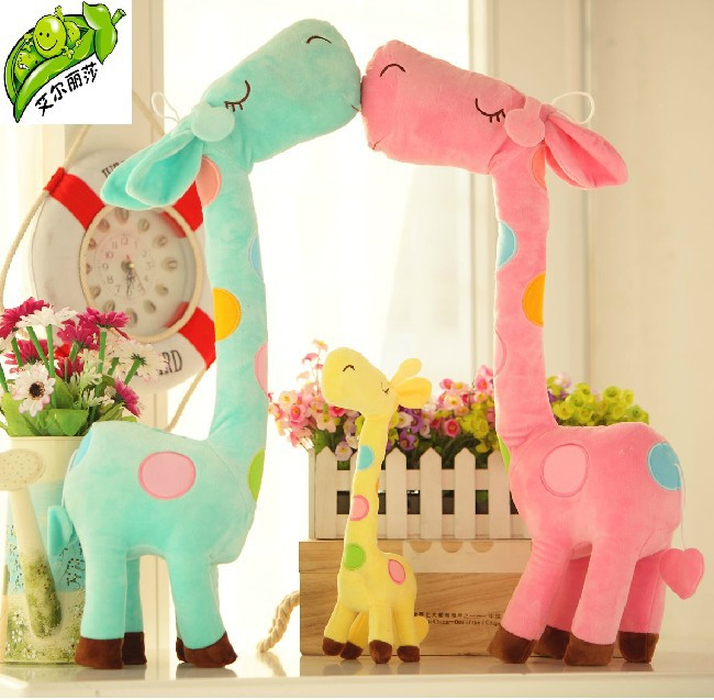 3 pieces Kawaii Christmas Gifts Stuffed Plush Giraffe