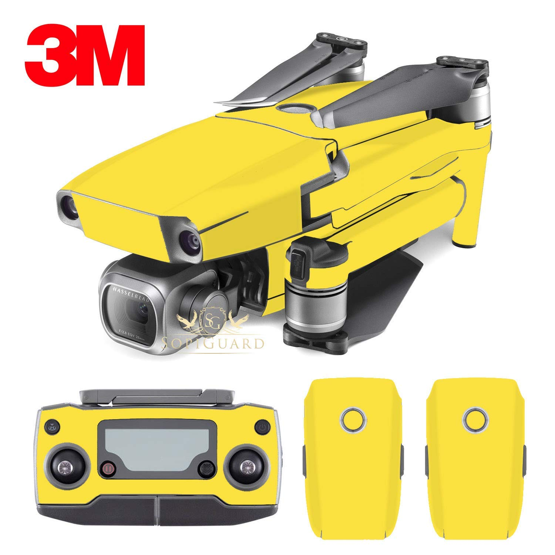 SopiGuard 3M Matte Yellow Vinyl Sticker Skin for DJI Mavic 2 Pro/Zoom
