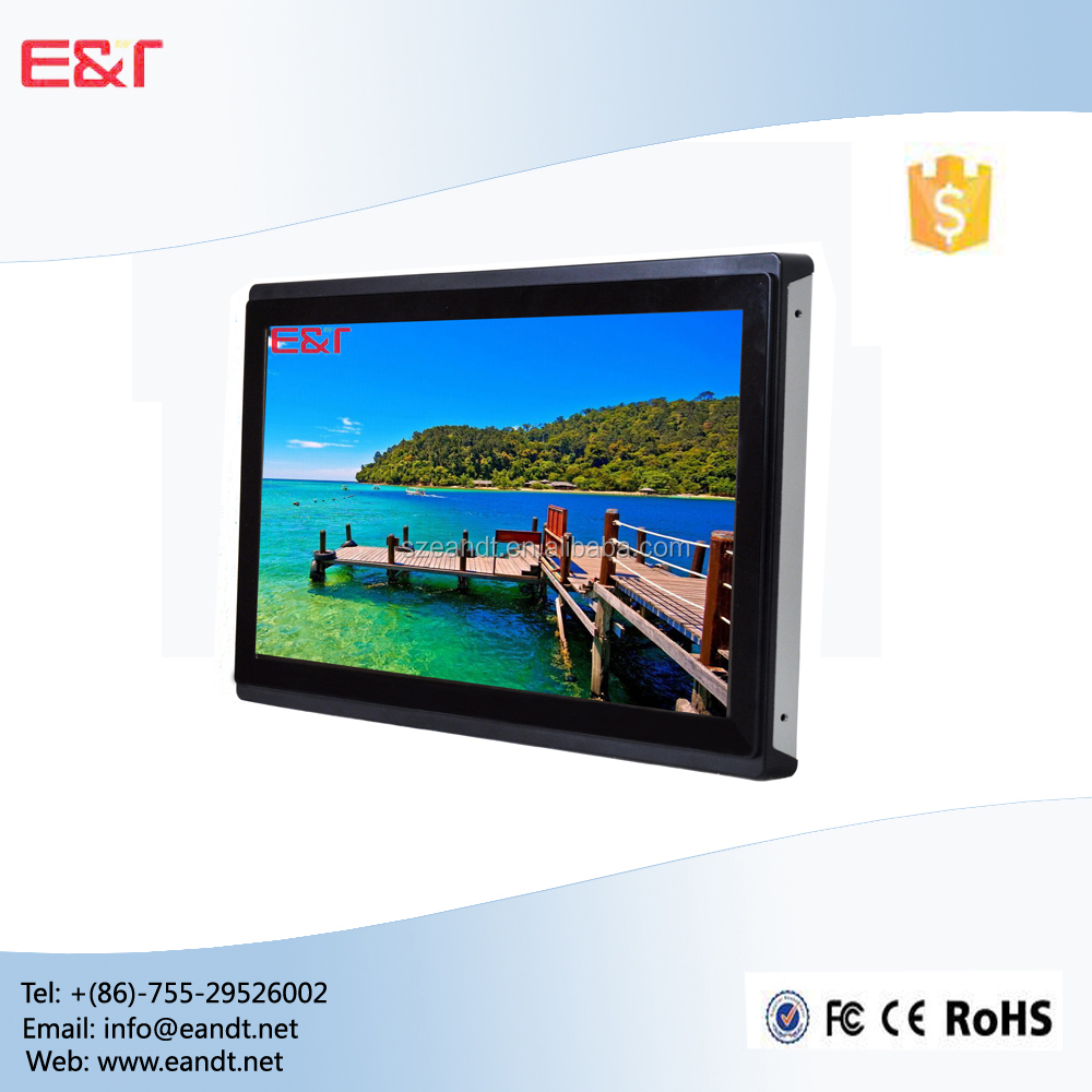Full view angle IP65 waterproof capacitive touchscreen monitor led backlight 19 inch monitor